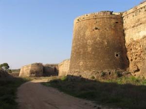 Martinengo bastion gun ports flanking the moat - Famagusta