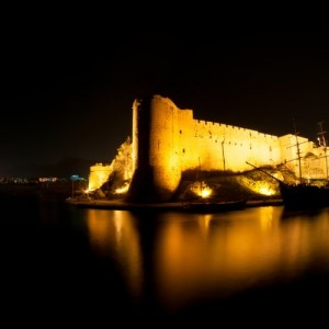 Kyrenia Castle In The Dark