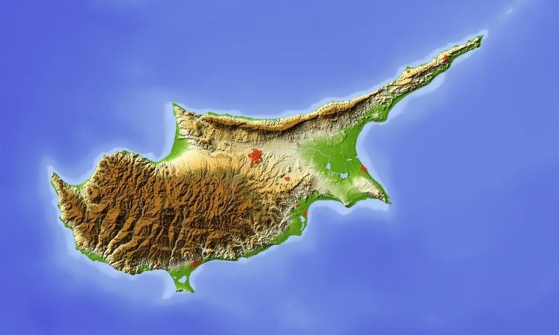 Cyprus Terrain Map