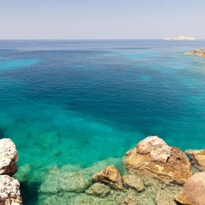 Crystal clear waters in North Cyprus